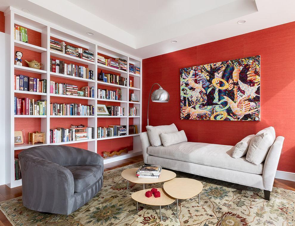 Parede vermelha 60 projetos e fotos incr veis for Paredes decoradas para salas