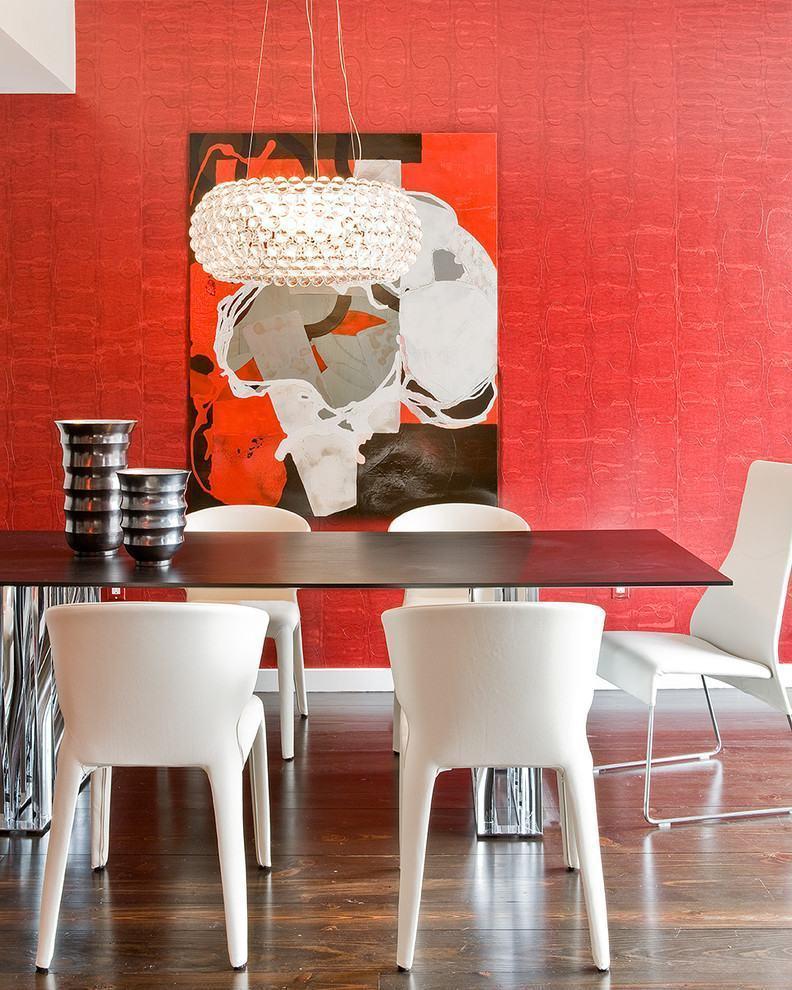 60 Salas Com Sofá Vermelho Incríveis: Parede Vermelha: 60+ Projetos E Fotos Incríveis