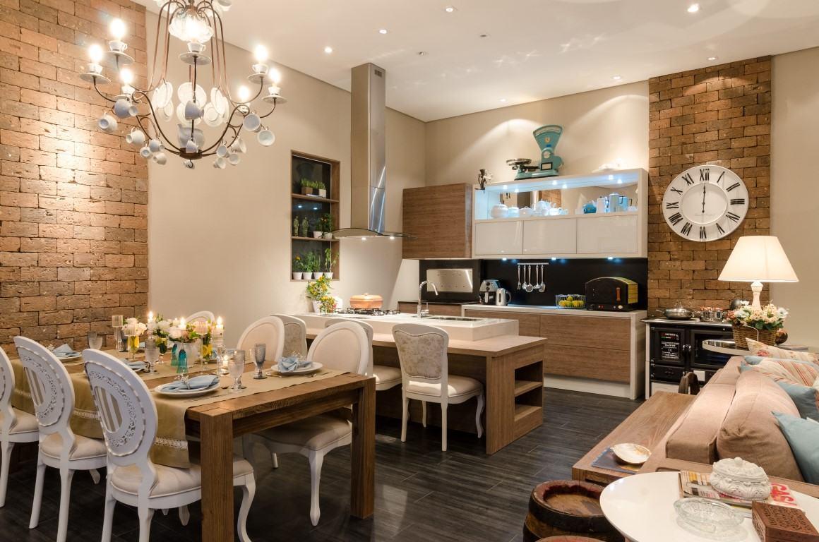Cozinha com Churrasqueira: 60  Projetos e Fotos #6B4929 1160 768