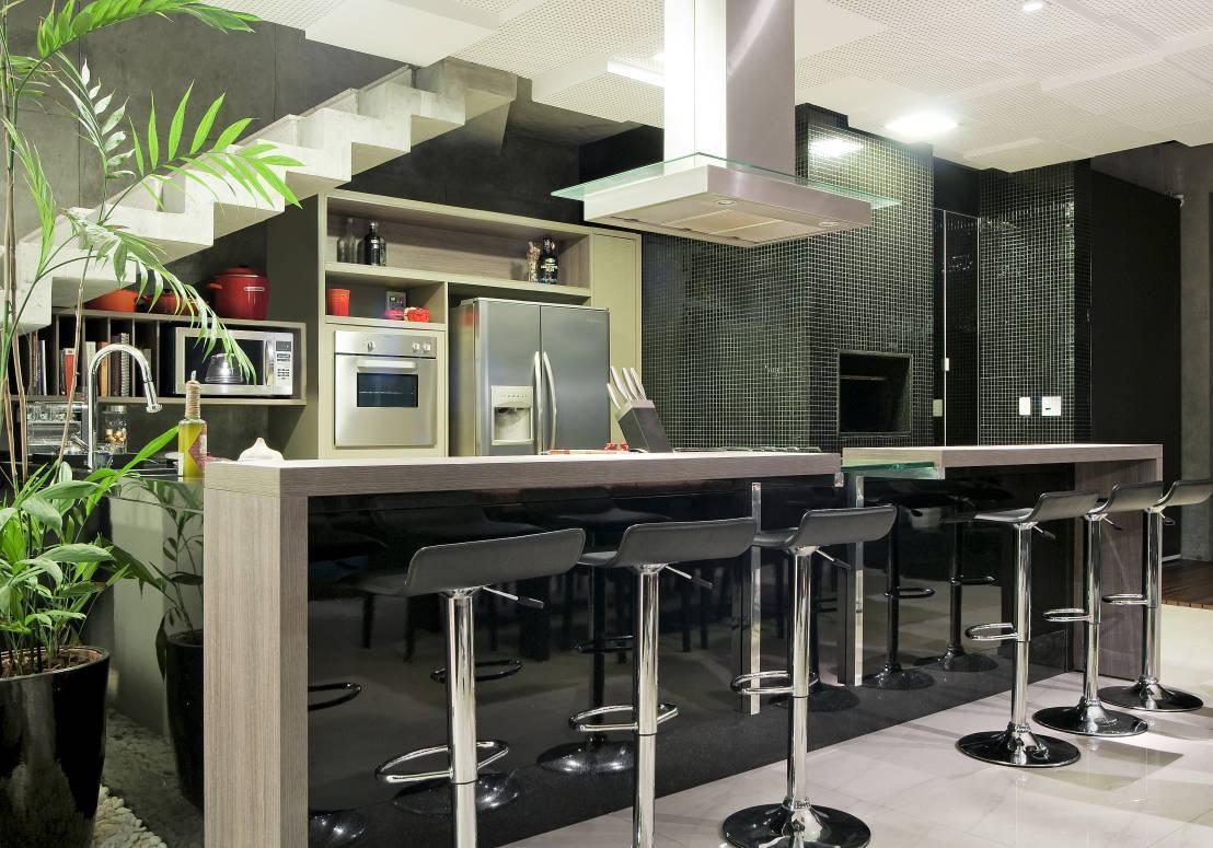Cozinha com Churrasqueira: 60  Projetos e Fotos #6E9C2F 1108 775