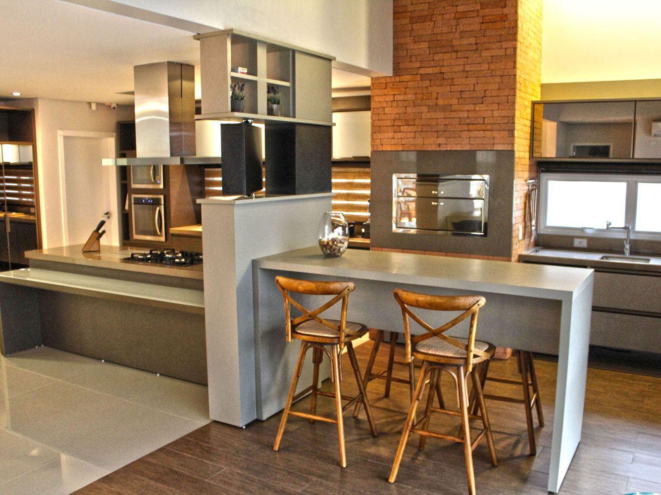 Cozinha com Churrasqueira: 60  Projetos e Fotos #BD900E 1335 1000