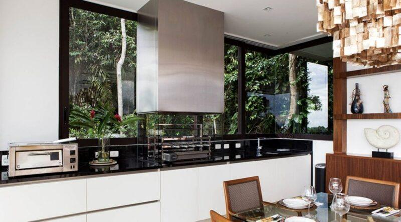 Cozinha com Churrasqueira: 60+ Projetos e Fotos