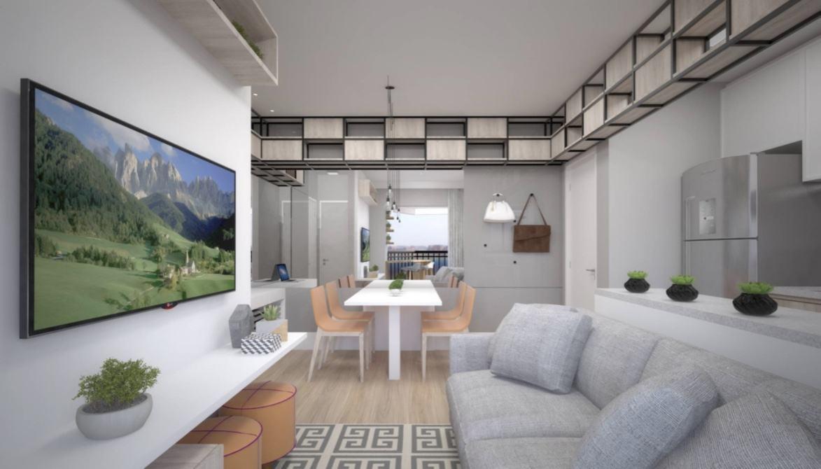 Salas decoradas em espaço pequeno