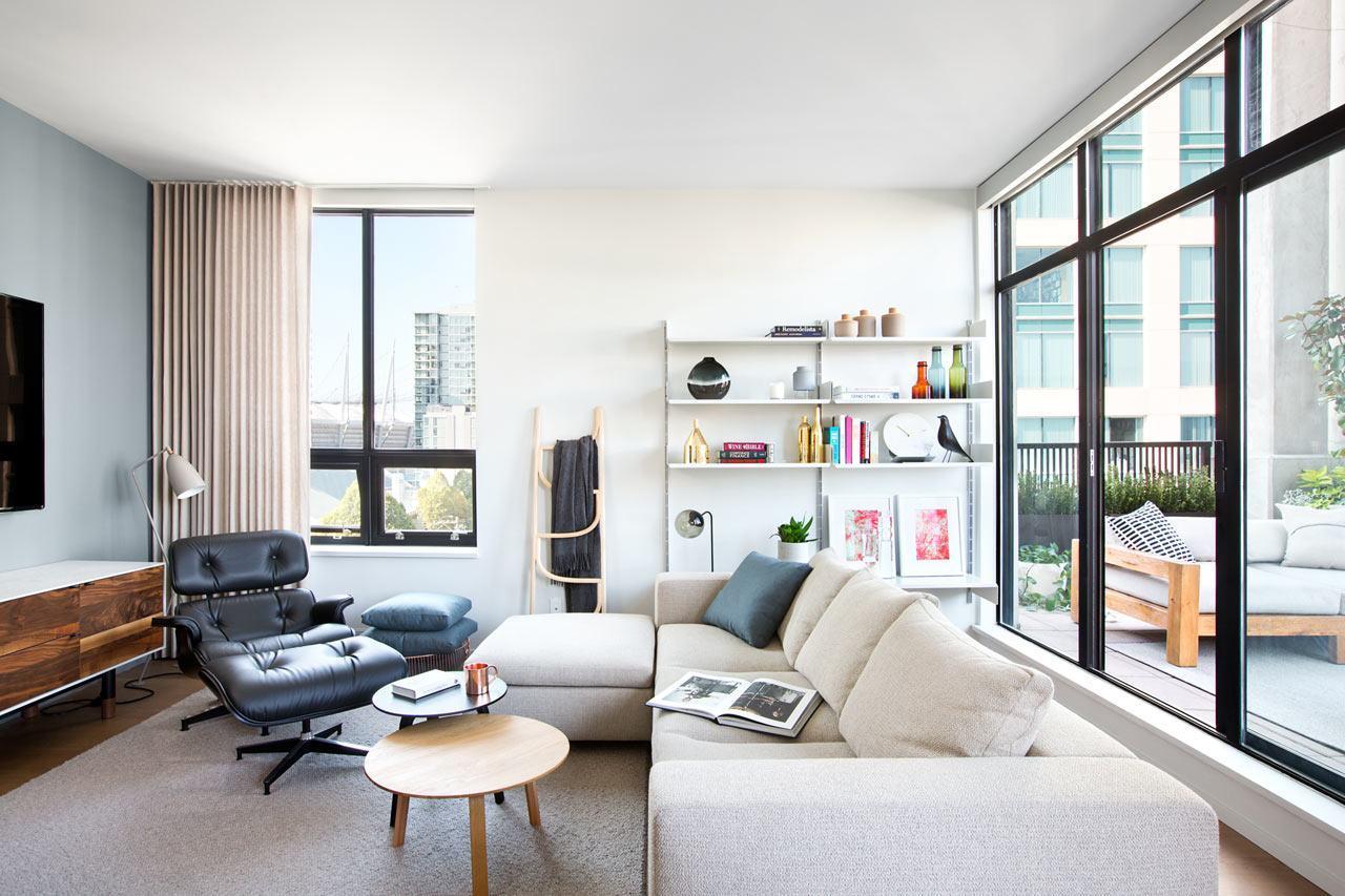 Salas decoradas com poltrona Charles Eames