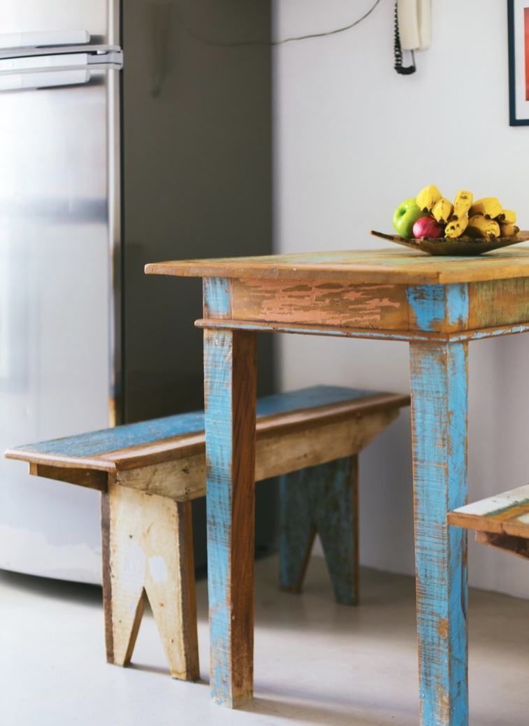 Mesa de madeira demolição na decoração: 70 fotos lindas