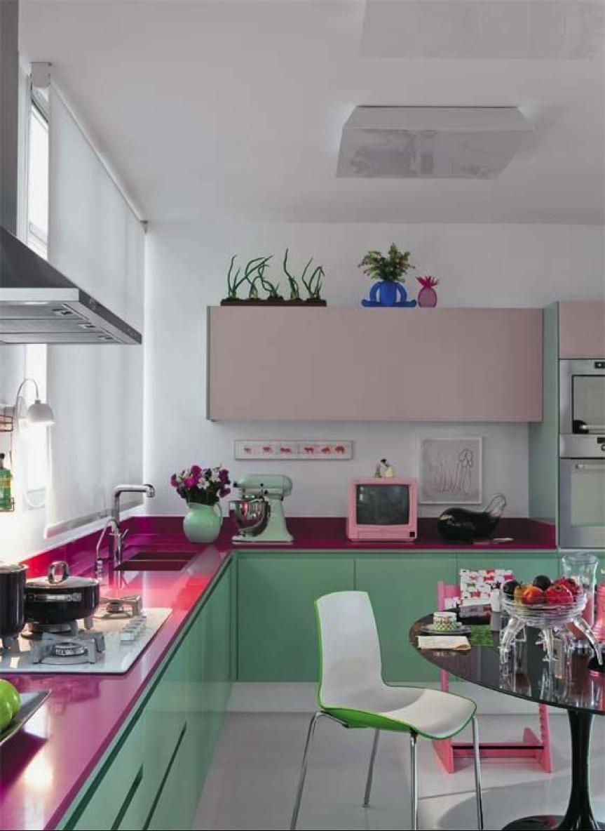 cozinha verde 65 projetos modelos e fotos com a cor. Black Bedroom Furniture Sets. Home Design Ideas