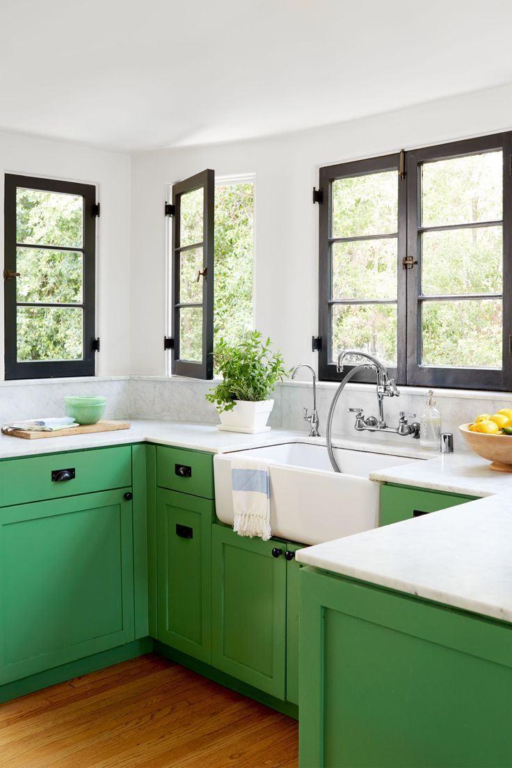 Cozinha verde 65 projetos modelos e fotos com a cor - Cocinas verdes y blancas ...