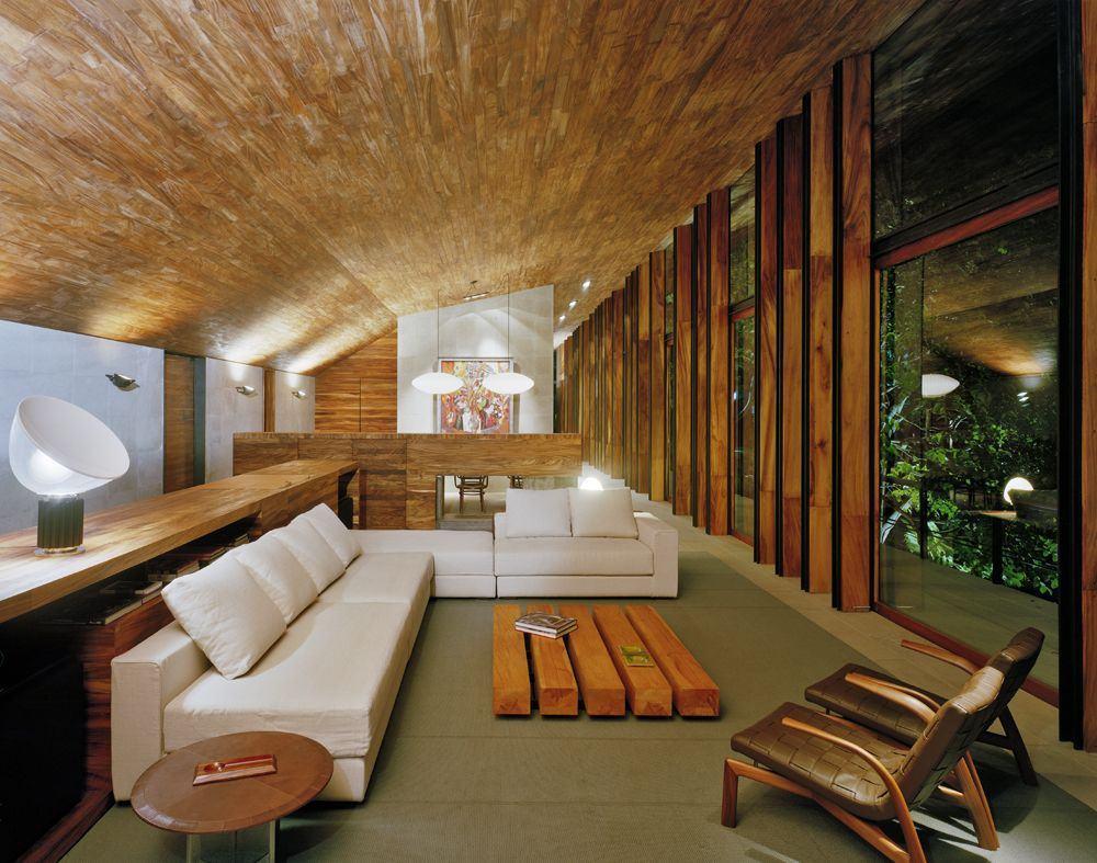 Salas De Luxo 60 Ideias E Fotos Inspiradoras  -> Parede De Pe Direito Duplo Sala