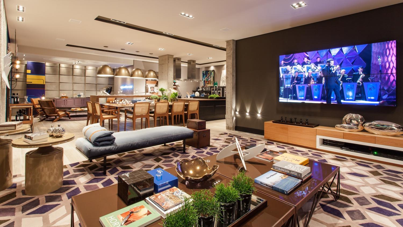 Sala De Estar De Luxo Com Tv ~ Salas de Luxo 60+ Ideias e Fotos Inspiradoras!