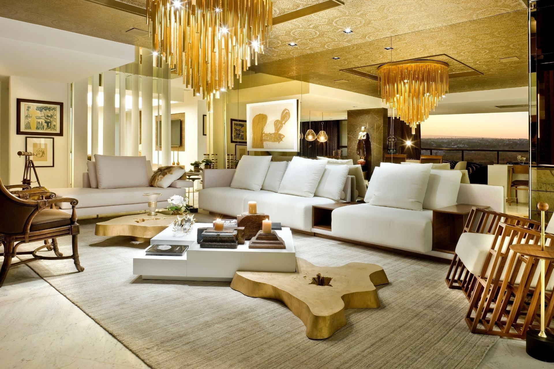 Salas De Luxo 60 Ideias E Fotos Inspiradoras  -> Acabamento Sala Pequena