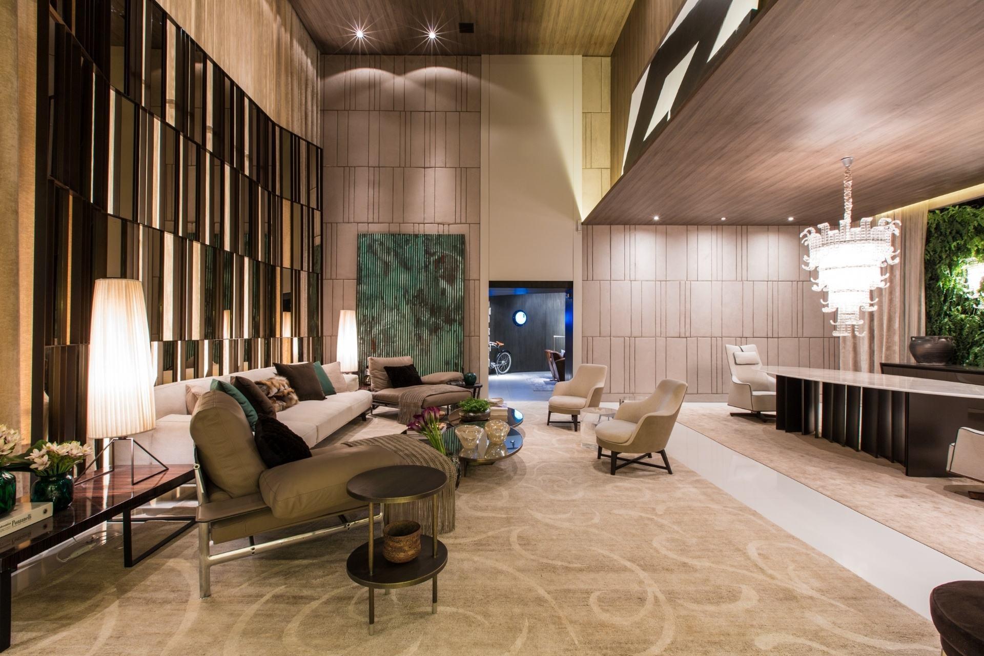 Salas De Luxo 60 Ideias E Fotos Inspiradoras  -> Casa Sala De Tv Sala De Jantar A Fazenda