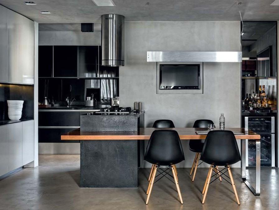 Cadeira charles eames 60 ambientes decorados com fotos for Bauhaus cocinas 2016