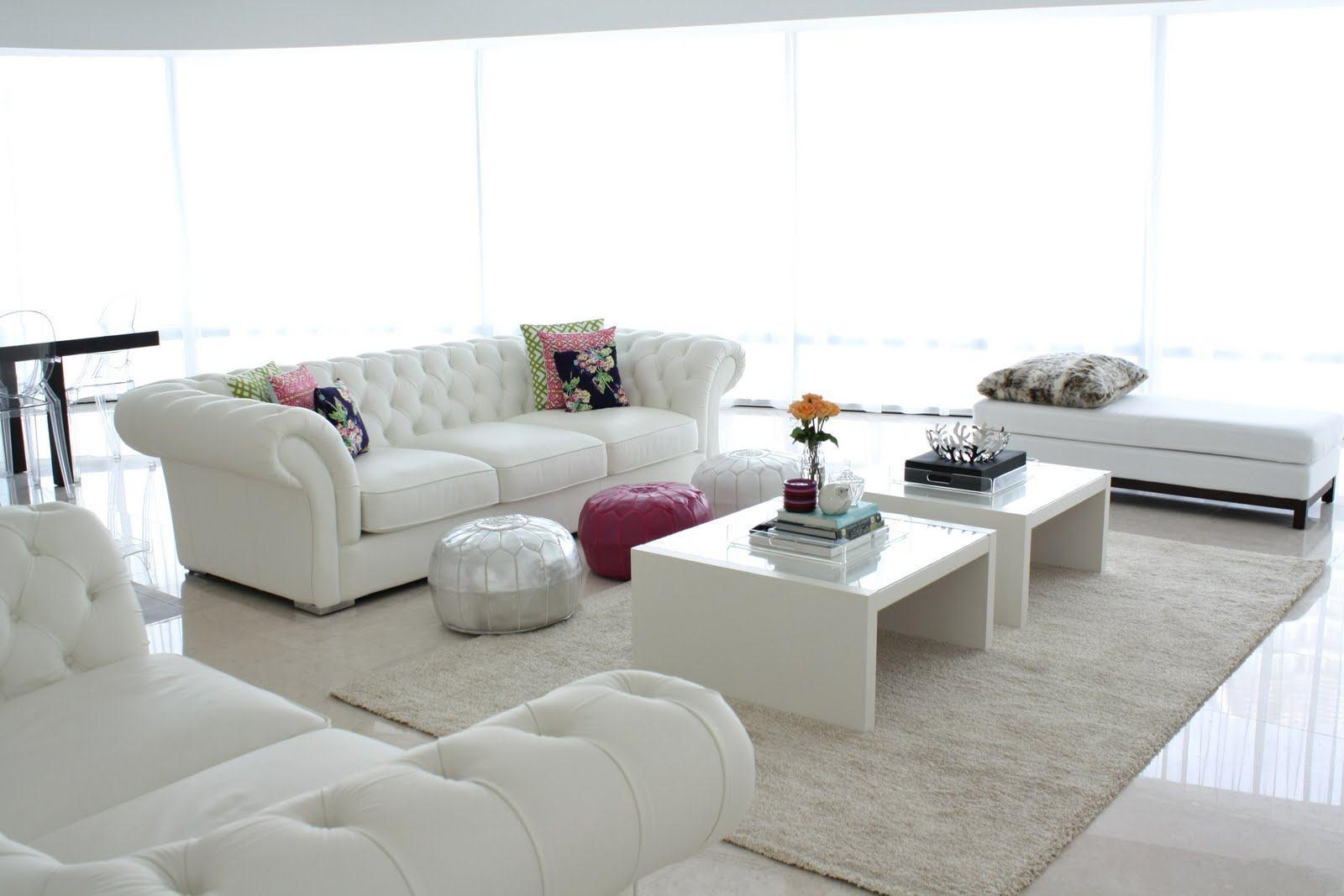 Sof branco 60 inspira es e fotos de decora o for Sofa cama decoracion