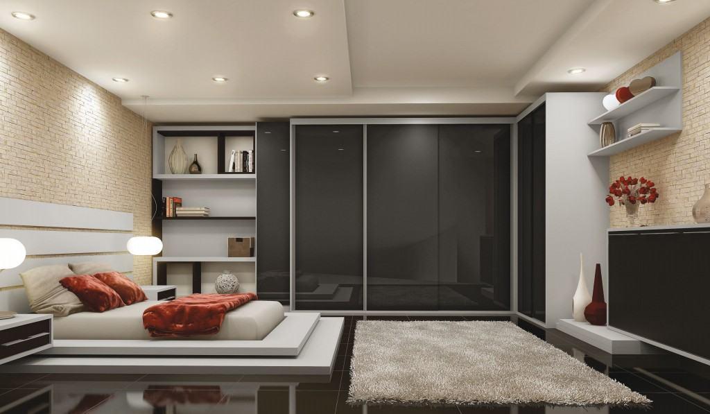 A cama baixa é ideal para deixar o aspecto visual mais leve.
