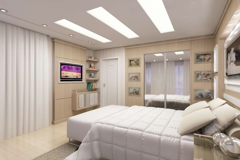 Os quadros de fotos decoram e deixam o clima mais romântico no quarto.