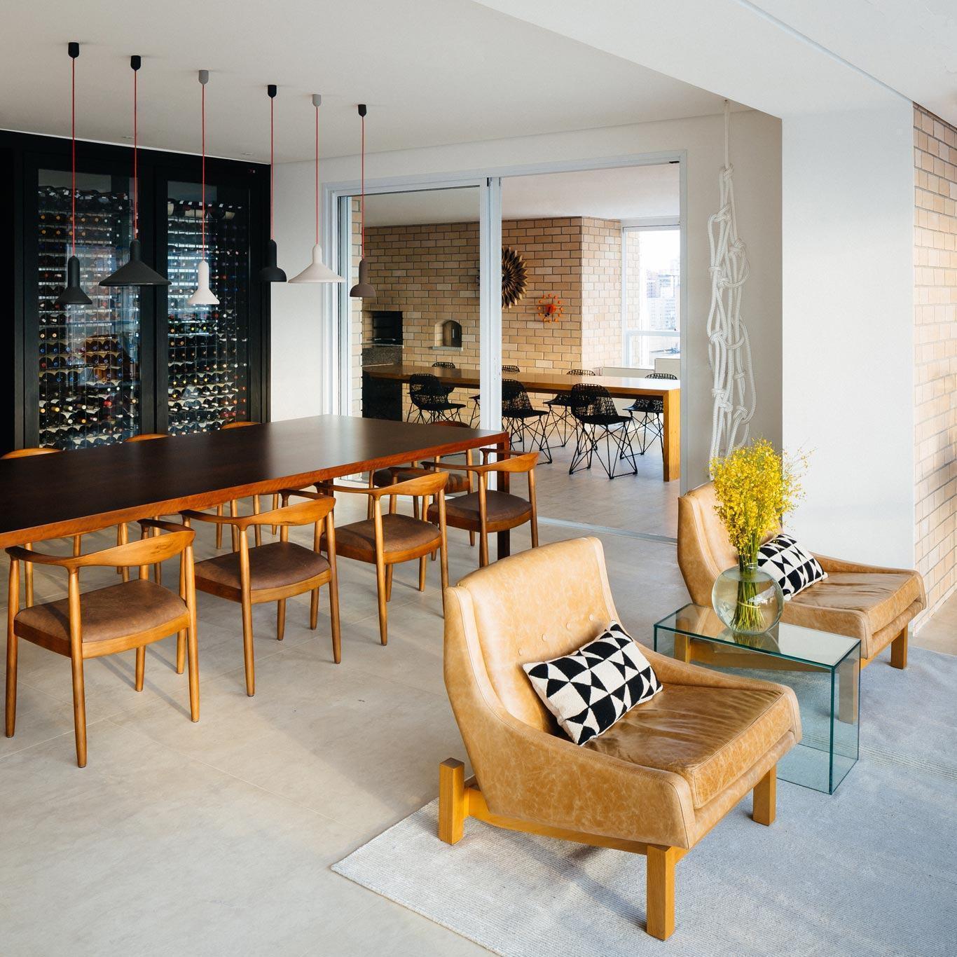 Mesas de jantar modernas 60 projetos dicas e fotos - Mesas redondas modernas ...