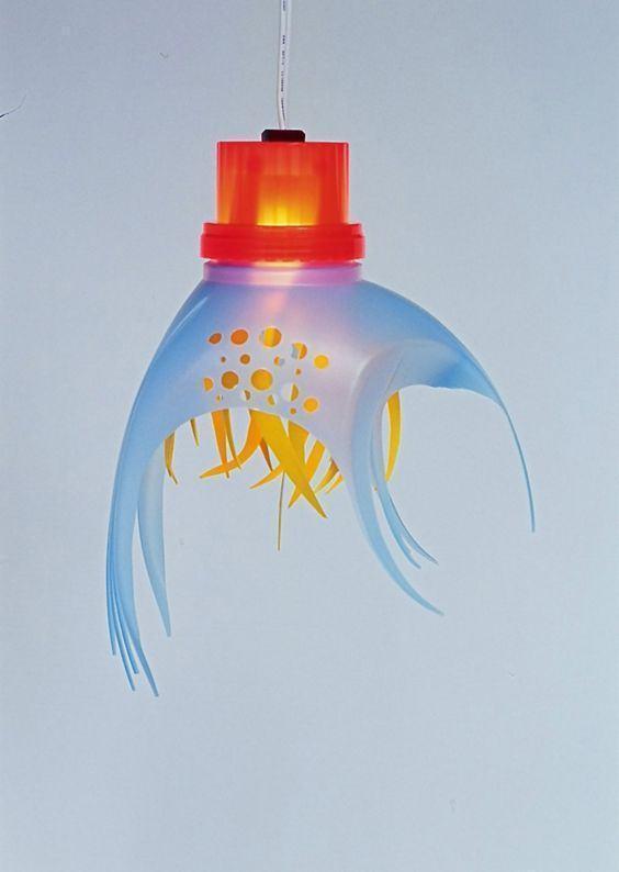 Embalagem similar a um amaciante utilizada para formar um lustre