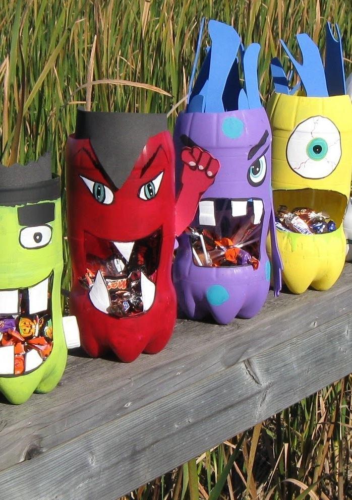 Potes de garrafa PET com EVA para as crianças