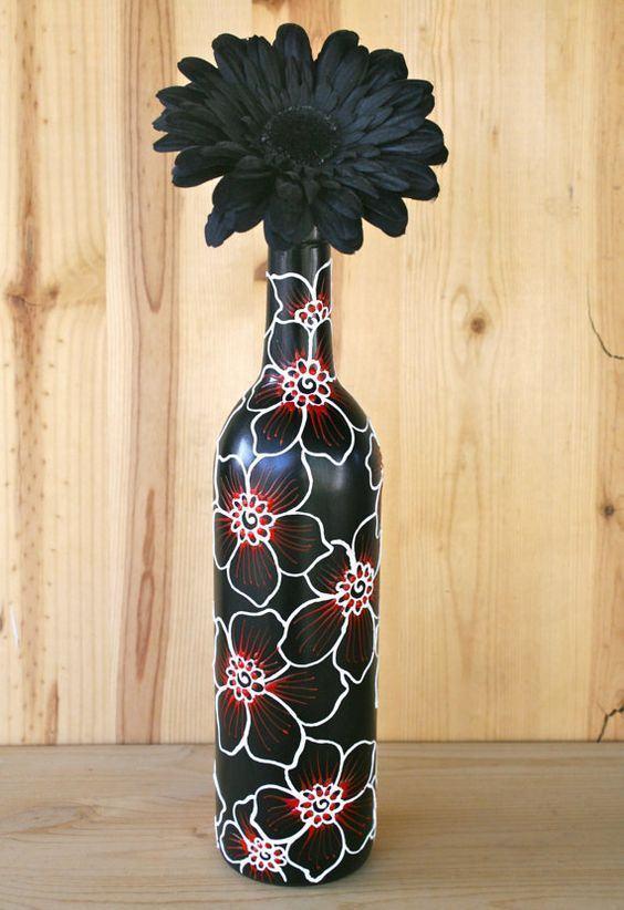 artesanato com garrafa de vidro 80 dicas e fotos lindas. Black Bedroom Furniture Sets. Home Design Ideas