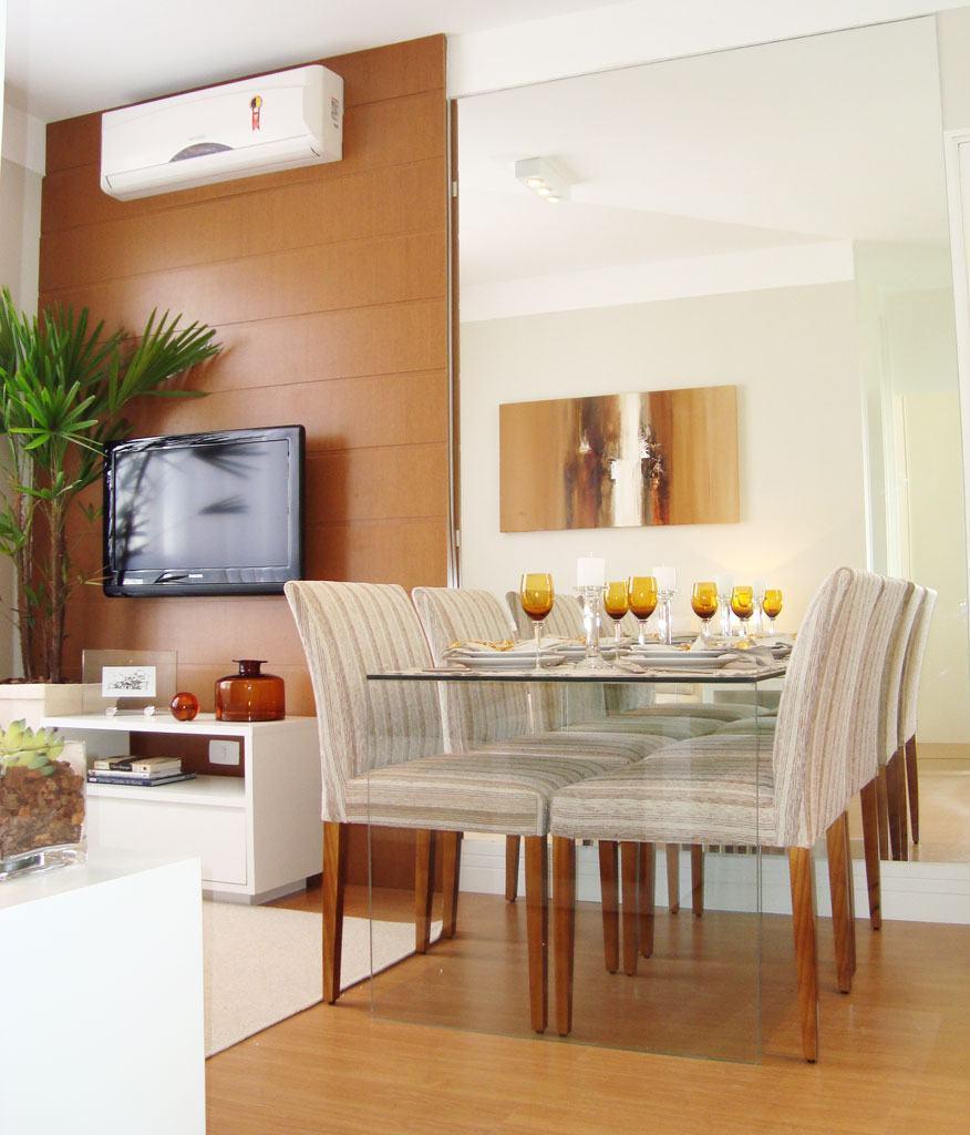Mesa de vidro 60 modelos de jantar redondos 4 e 6 cadeiras for Mesas para apartamentos pequenos