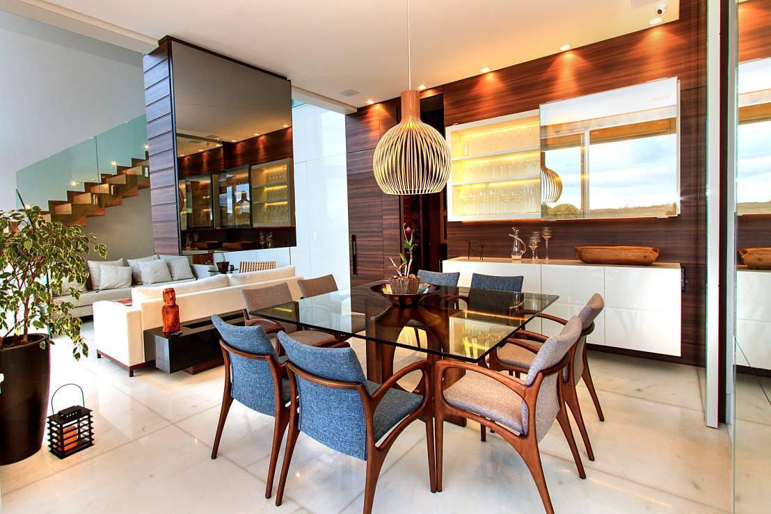 Mesa de vidro 60 modelos de jantar redondos 4 e 6 cadeiras for Mesas de sala modernas