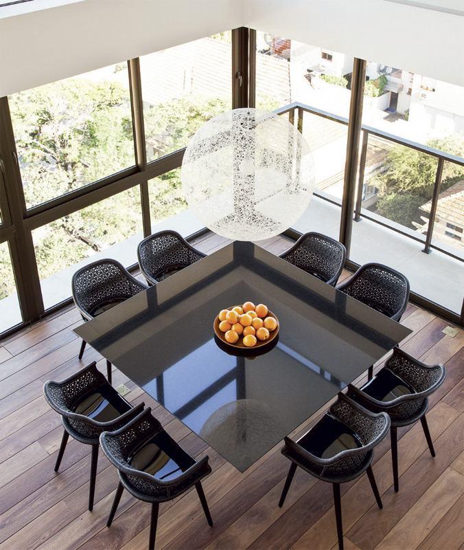 Adesivo De Parede Grande ~ Mesa de Vidro 60 Modelos de Jantar Redondos, 4 e 6 Cadeiras