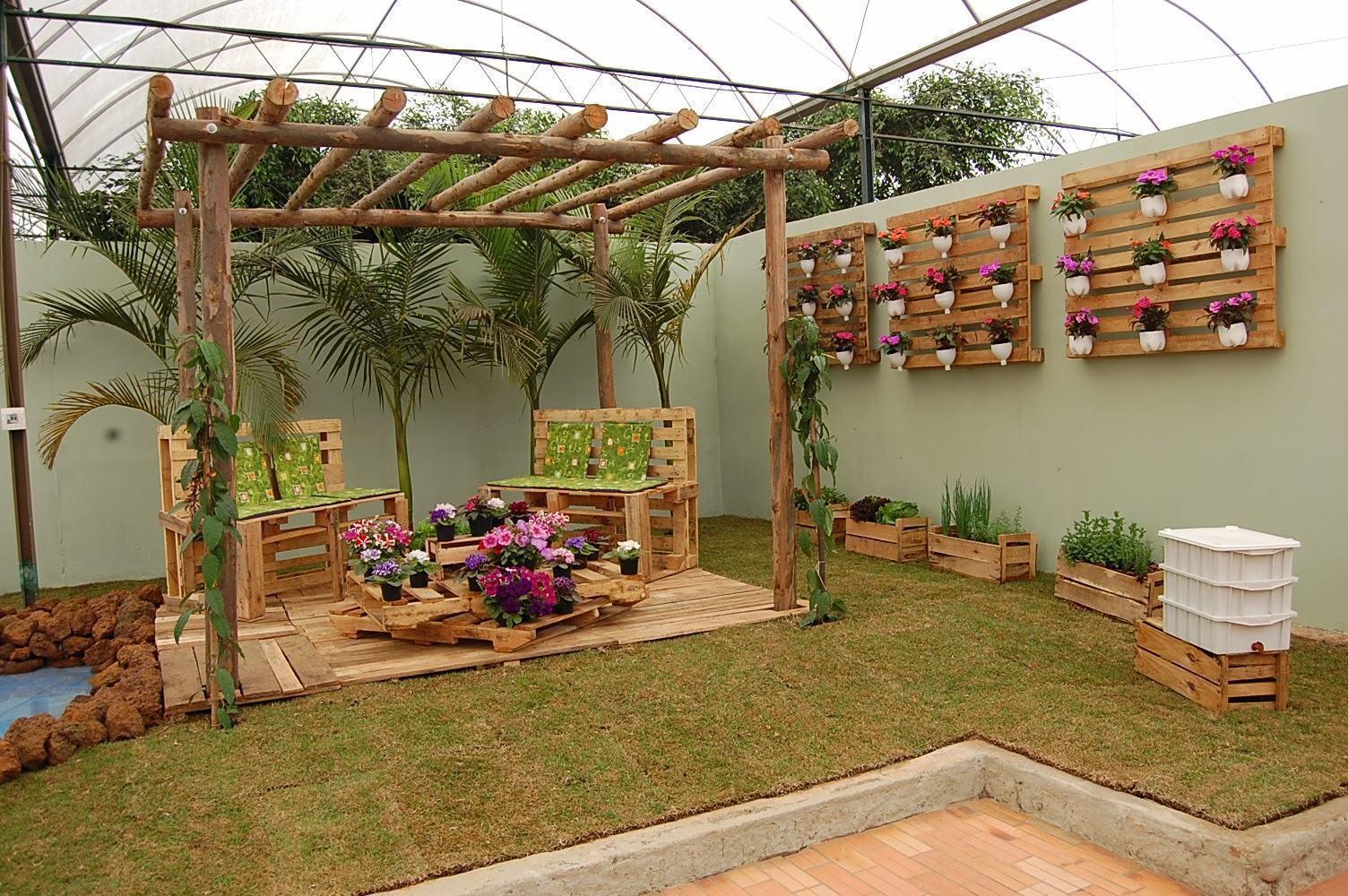 Jardim simples 60 ideias fotos e passo a passo - Arredare casa economicamente ...