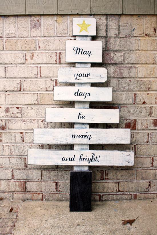 Crie placas para deixar sua mensagem de Natal.