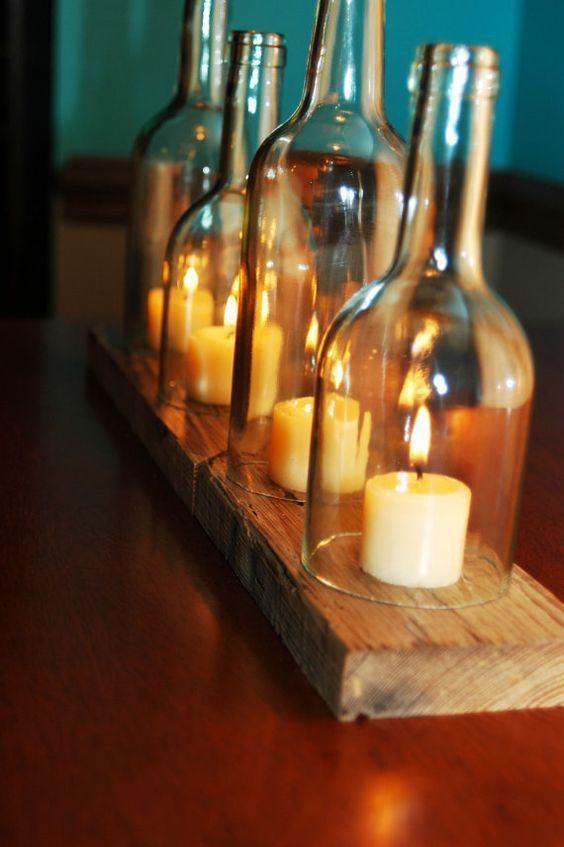 Um lindo suporte para encaixar velas cilíndricas.