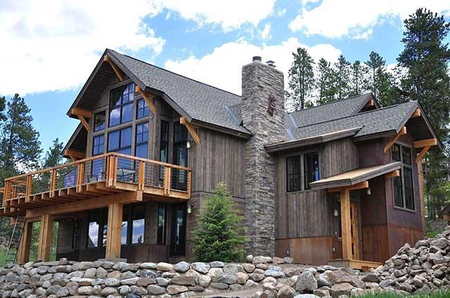 Ampliação após a construção da casa de madeira