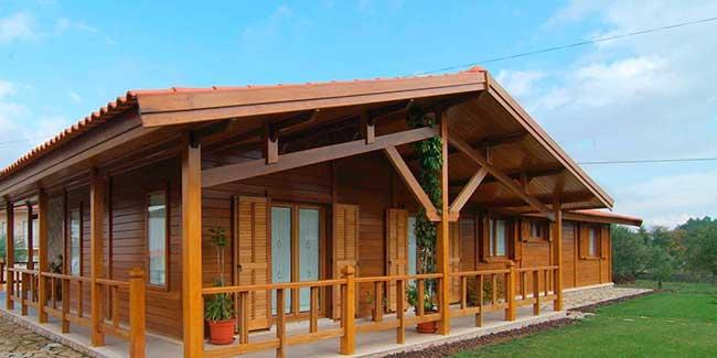 Casa térrea pré fabricada em madeira