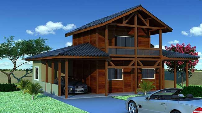 Casa com alvenaria tradicional