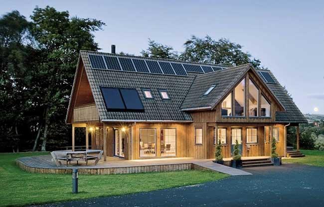 Elementos sustentáveis nas casas de madeira