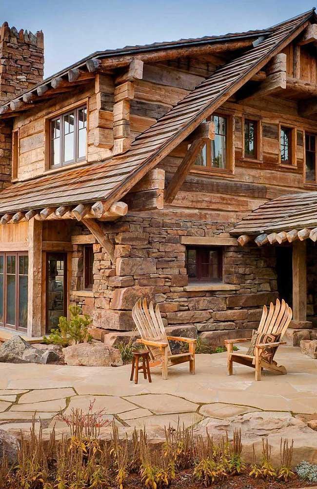 Casas de madeira 85 modelos e projetos incr veis for Modelos de casas rusticas