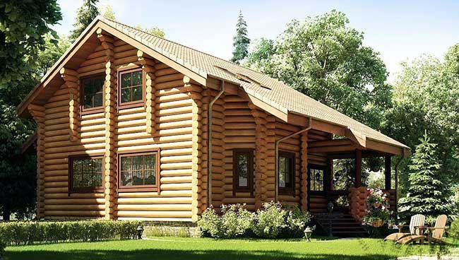 Casa de madeira com aplicação bem feita do material