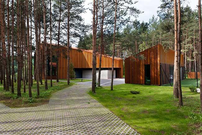 Projeto sofisticado para casa de madeira