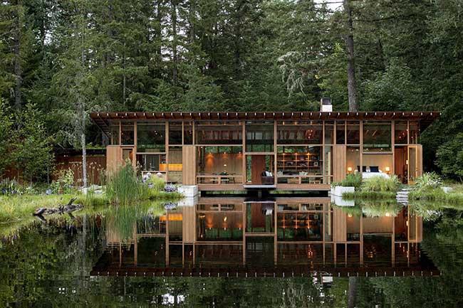 Paineis em vidro deixam a natureza com integração maior