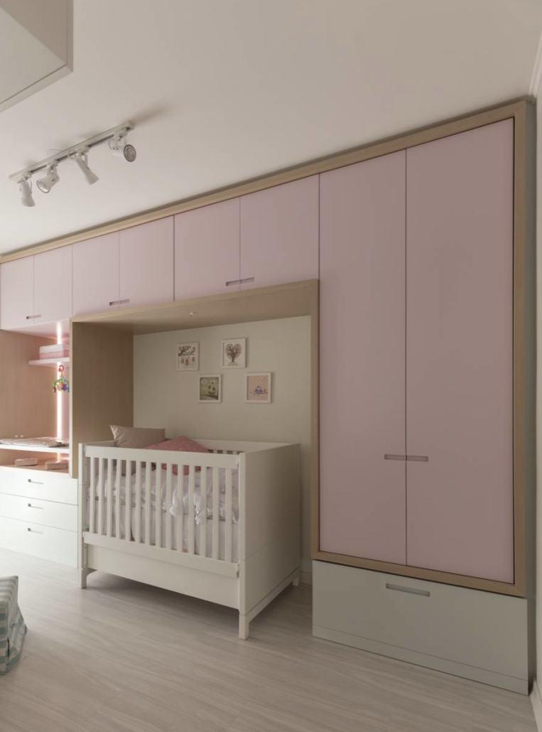 Quarto de beb rosa 60 fotos e inspira es incr veis - Armarios de bebe ...