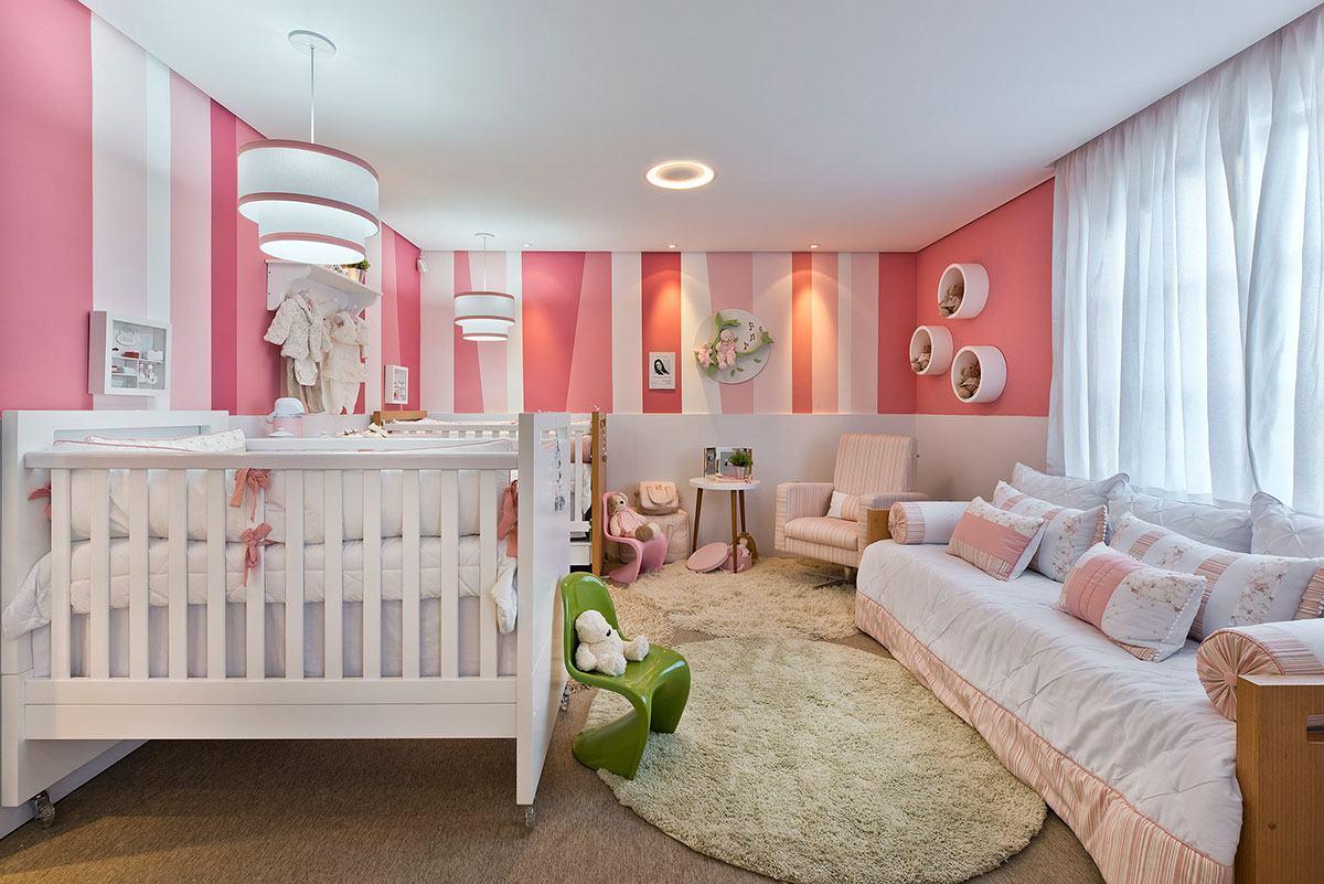 Quarto De Bebe ~ Quarto de Beb u00ea Rosa 60+ Fotos e Inspirações Incríveis!