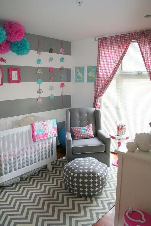 Quarto de beb rosa 60 fotos e inspira es incr veis for Cuarto de los padres blancos