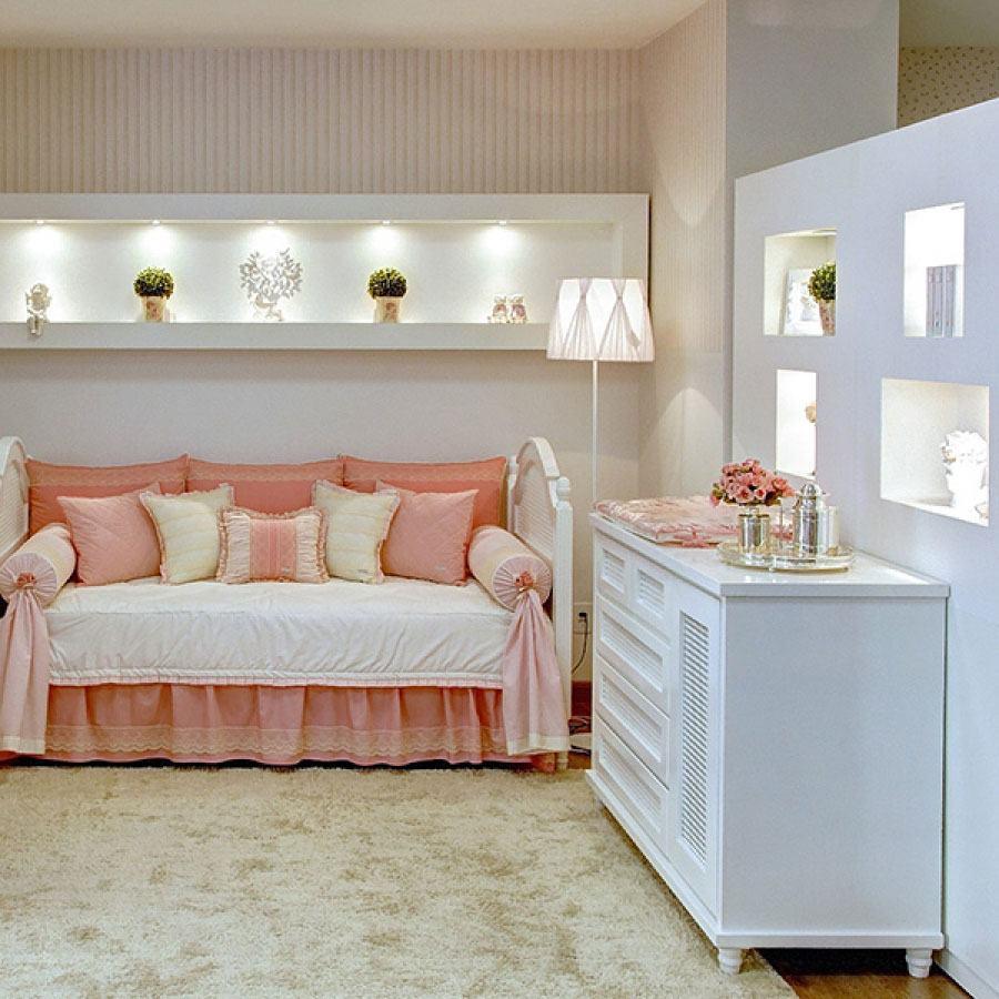 Imagem 17 ? Utilize tons claros de rosa para um quarto de beb?.