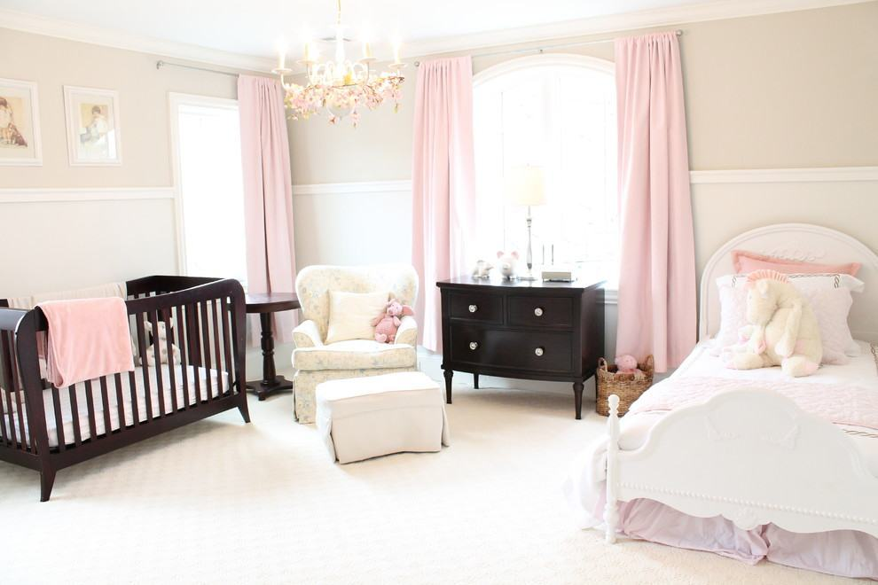 Quarto de Bebê Rosa 60+ Fotos e Inspirações Incríveis! ~ Quarto Rosa Marrom