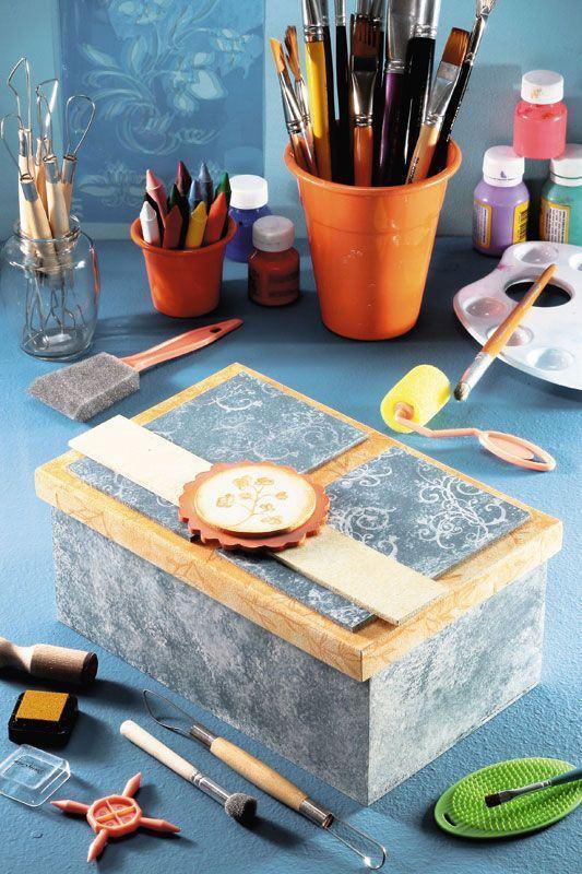Caixa de MDF com pintura delicada