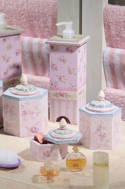Embalagens para sabonete e outros objetos para as meninas