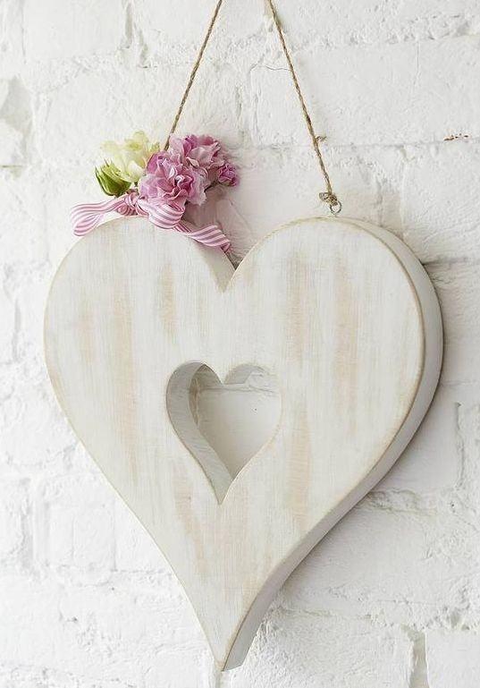 Enfeite de parede com formato de coração