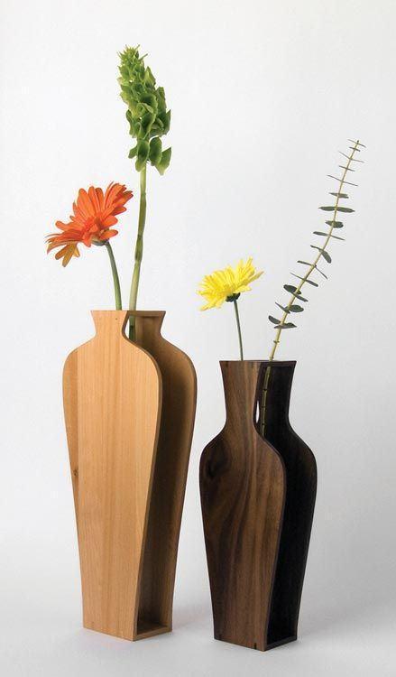Vaso de MDF para flores artificiais