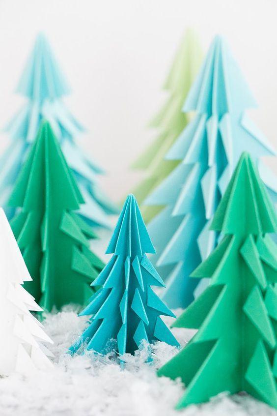 equenas árvores verdes para decorar