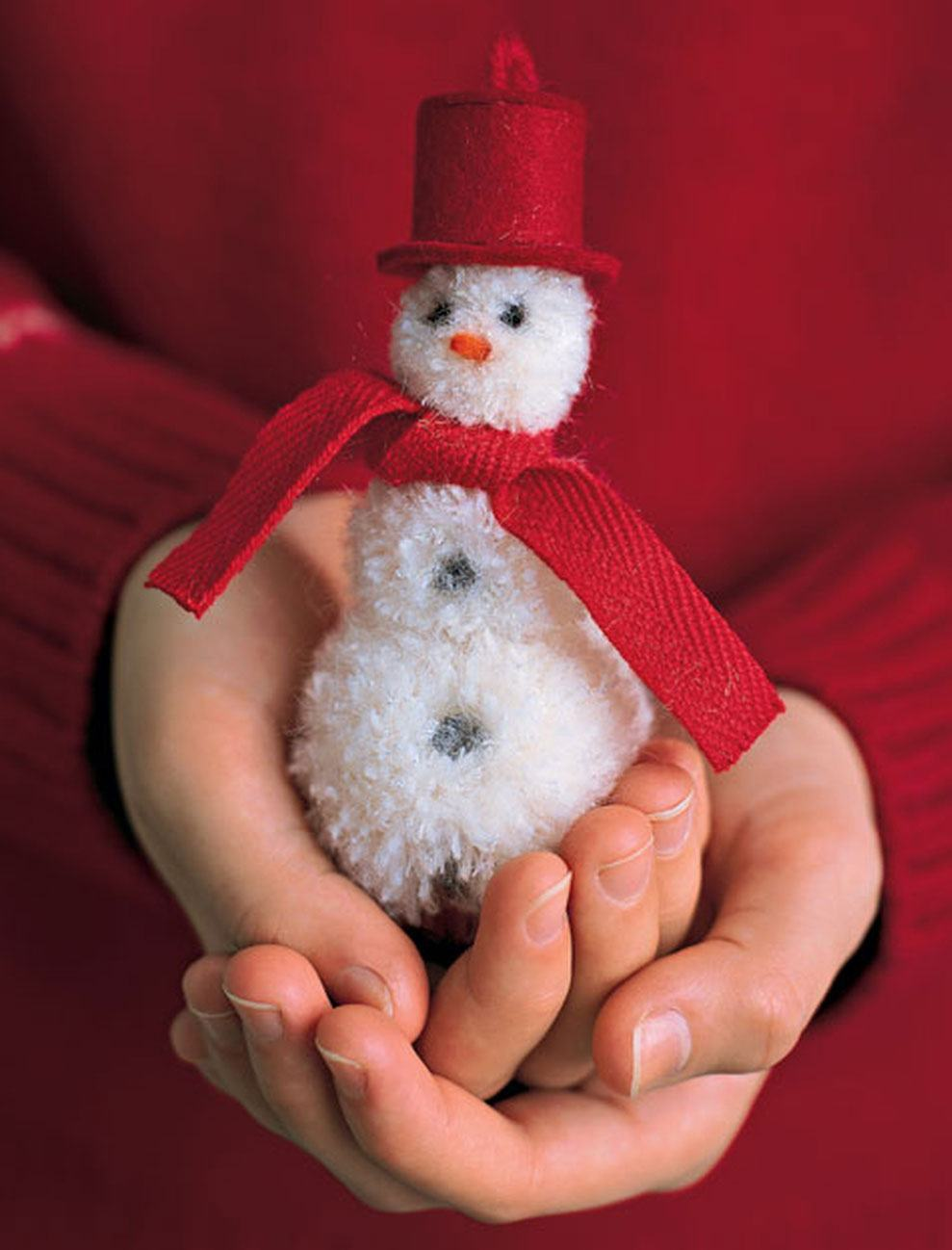 Pequeno boneco de neve para a decoração