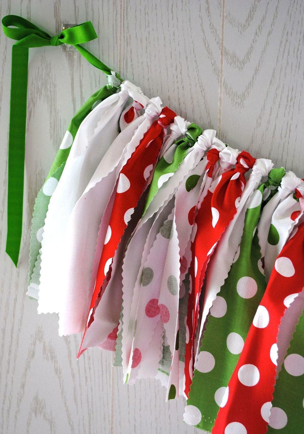 Decoração com diferentes tecidos coloridos