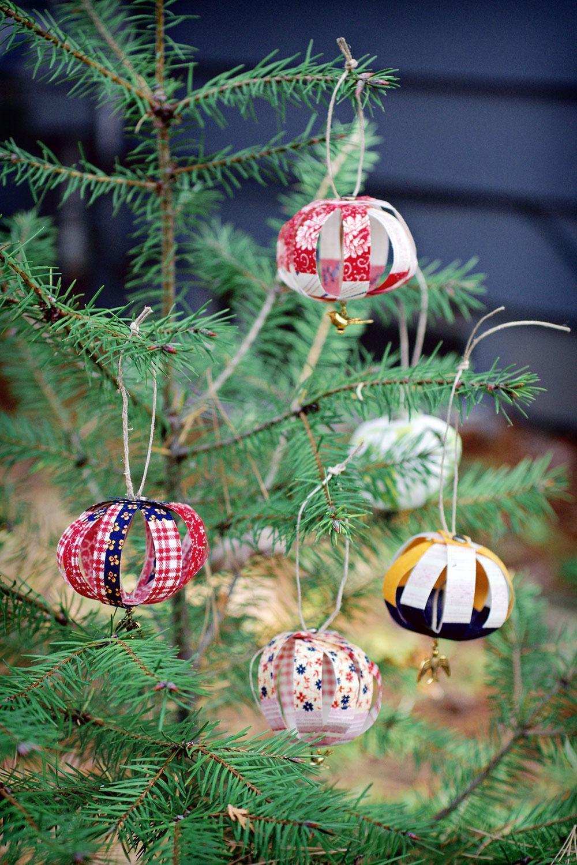 Pequenos enfeites para árvore de Natal